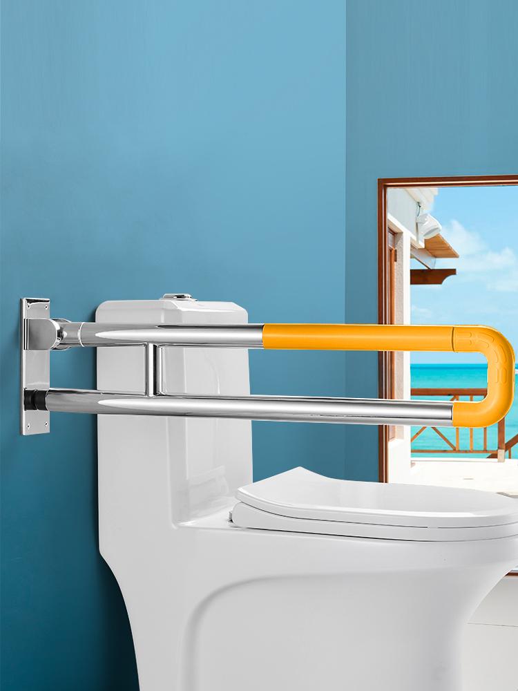 304不锈钢卫生间扶手老人残疾人防滑灰瓦顶防风机遮雨棚本