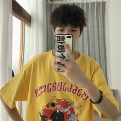 A262-B11-P30 男士短袖t恤2019夏季男装新款上衣港风韩版潮半袖