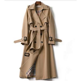 风衣女中长款2020初秋新款韩版小个子流行英伦风过膝大衣春秋外套