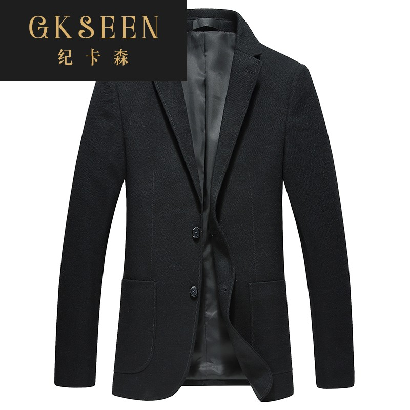 Gkseen mens Woolen casual suit business slim woolen suit single Western jacket rf0923