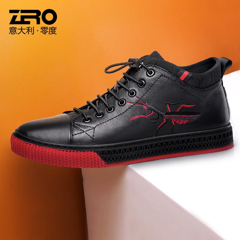 Zero零度男鞋高帮厚底男士休闲鞋2018秋季新品韩版潮流板鞋潮鞋子
