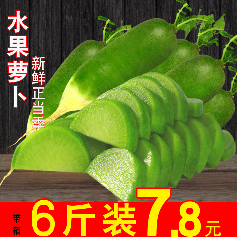 水果萝卜甜脆新鲜蔬菜 非沙窝萝卜 潍坊潍县萝卜 青萝卜5斤水萝卜