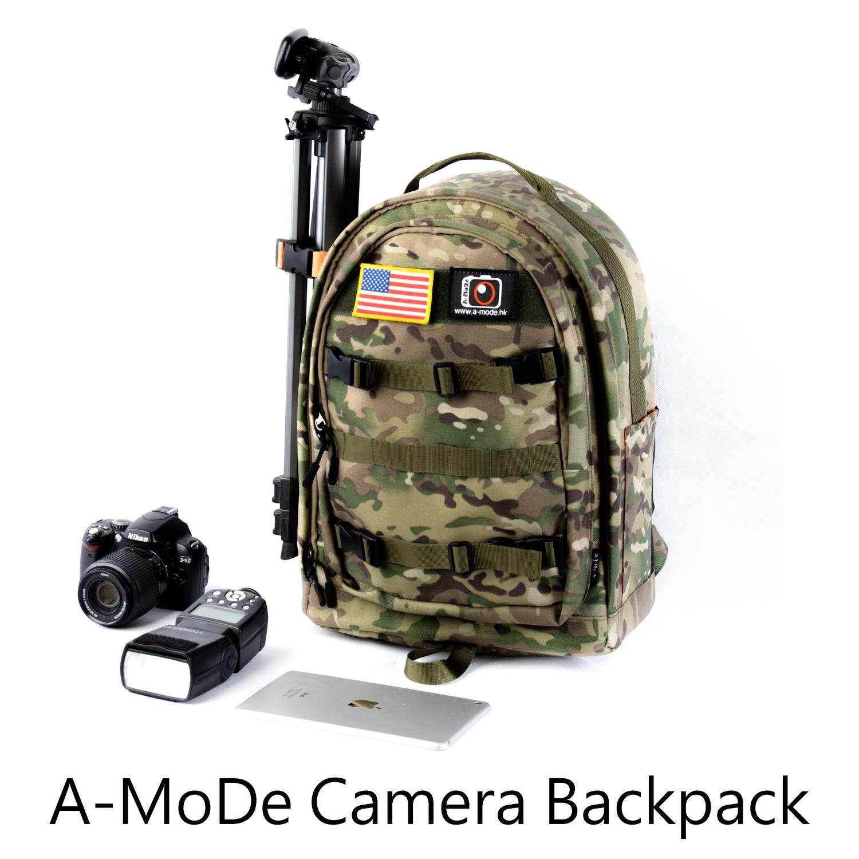 A-MoDe 专业相机包 双肩摄影包男大容量防水单反包女防盗数码背包