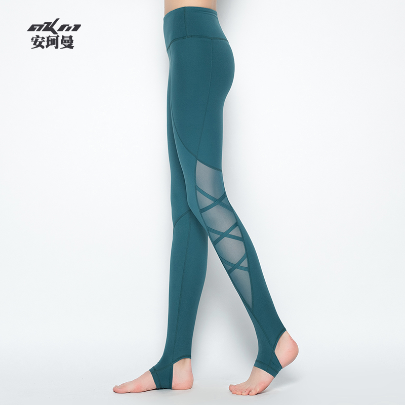 Ankiman sexy yoga suit tights Yoga Pants women's high waist and hip sports pants fitness foot pants