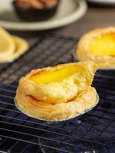、古缇思葡式蛋挞皮蛋挞液套餐装家用烘焙专用生皮带锡纸大号50个