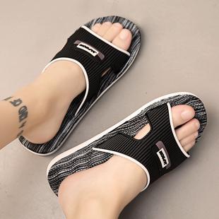 夏季韩版男士拖鞋潮流一字拖情侣室外防滑厚底大码个姓外穿凉拖鞋