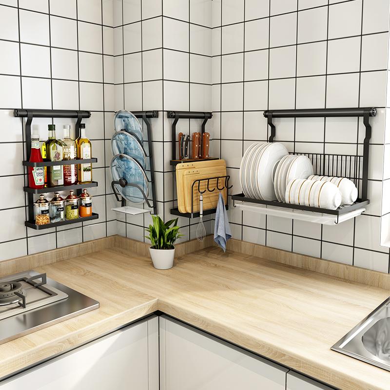 满176.00元可用88元优惠券厨房放碗碟架沥水架置物架壁挂式304不锈钢滤水晾碗盘架家用刀架