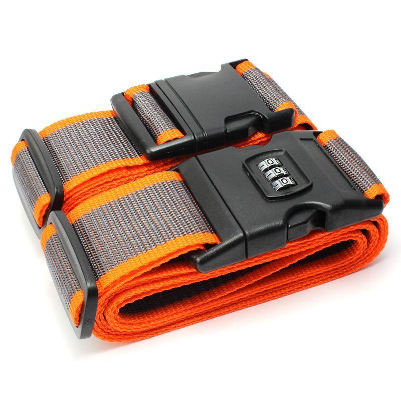 十字行李箱打包带TSA海关密码锁绑箱托运拉杆旅行箱捆绑行李带子