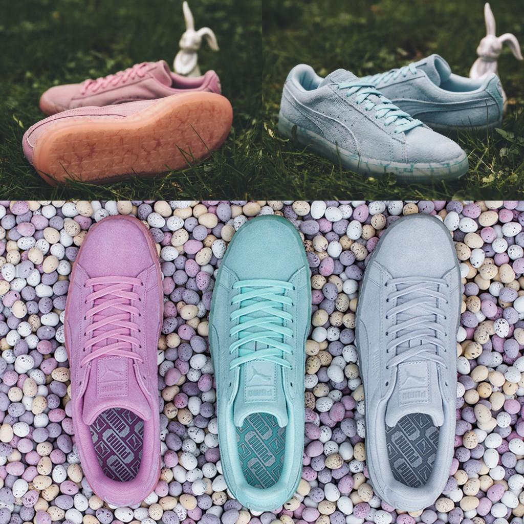 代�彪�RPuma板鞋 Suede Classic Easter FM果�錾�水晶底男女板鞋