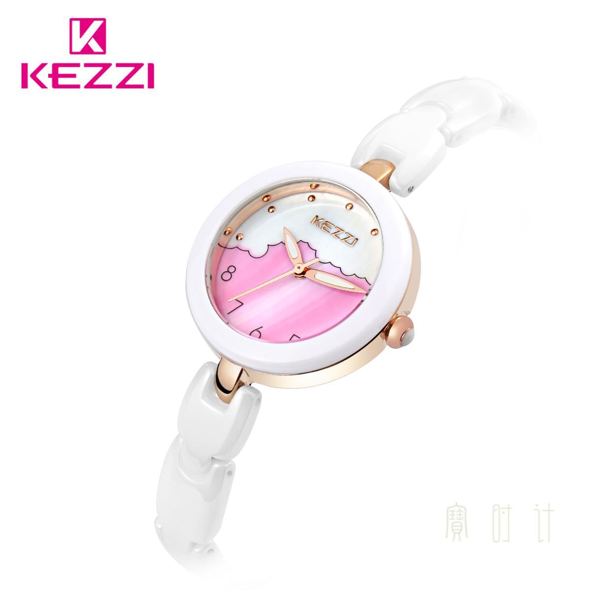 香港珂紫kezi規格品韓国版ファッションレディース陶磁器腕時計学生日プレゼント防水石英