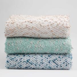 蓝色搭毯豆豆毯子床上装饰毯流苏沙发毯民宿床尾毯北欧ins风线毯