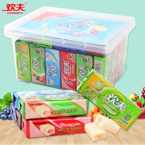 歡夫夾心口香糖21.5g*40條懷舊小零食糖果兒童泡泡糖混合水果味