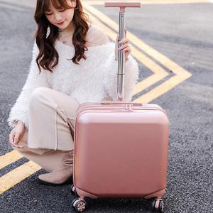 商务单杆18寸拉杆箱小行李箱男女迷你登机箱万向轮密码箱旅