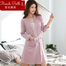 Bianpei pajamas cabinet pajamas cotton long-sleeved gowns high-end bathrobe brand bathrobe bathrobe bathrobe bathrobe cabinet