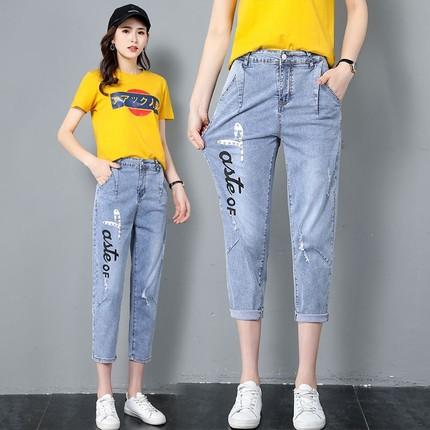七分裤女夏薄款牛仔裤学生图片
