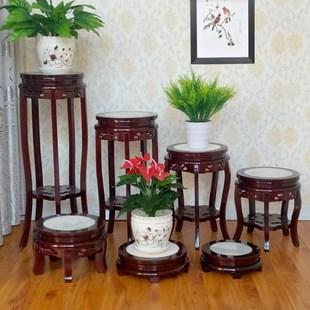 花架實木客廳中式單個置物落地室內魚缸放盆景的小架子家用木質矮