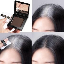 【孕妇可用】一次性染发粉饼笔剂膏纯植物遮盖白发神器补染发际线图片