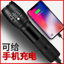 手电筒强光充电军专用超亮远射家用户外小便携疝气迷你小型led灯