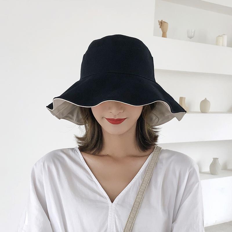 帽子女韩版潮日系夏季百搭遮阳帽防晒太阳帽网红款薄款渔夫帽女士