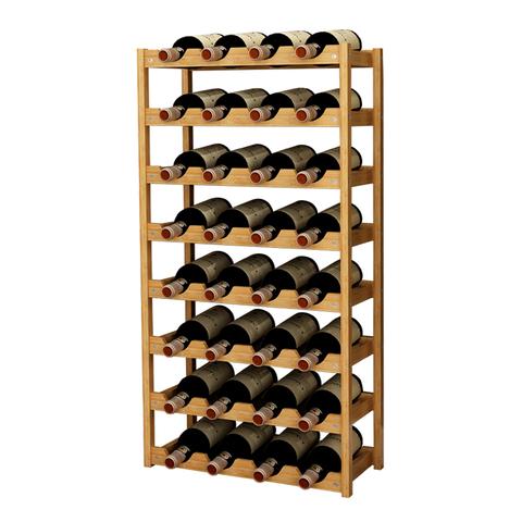酒架红酒柜置物架落地客厅实木酒柜家用北欧现代创意简约红酒架子