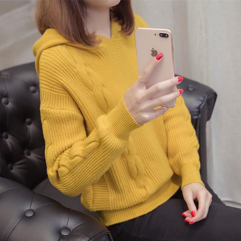 【早春新品】女神连帽针织卫衣-给呗网