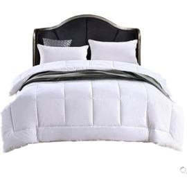 酒店专用白色被芯羽丝绒宾馆七孔柔软被子加厚保暖冬季化纤丝棉被图片