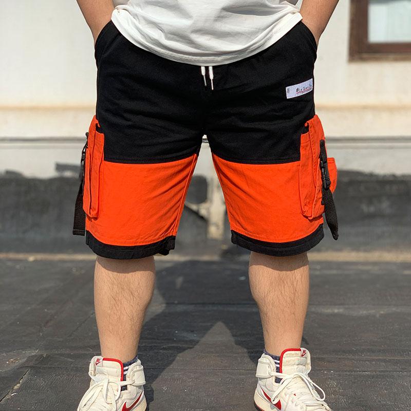 民生铺子男夏季拼接撞色工装短裤手慢无