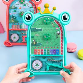 儿童弹射迷你弹珠机益智类玩具亲子互动对战小型弹珠台桌游小游戏