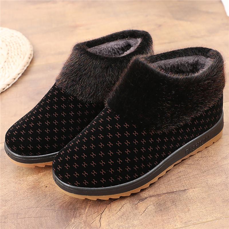 老北京布鞋加绒女鞋老人棉鞋冬季高帮中老年妈妈鞋防滑保暖奶奶鞋