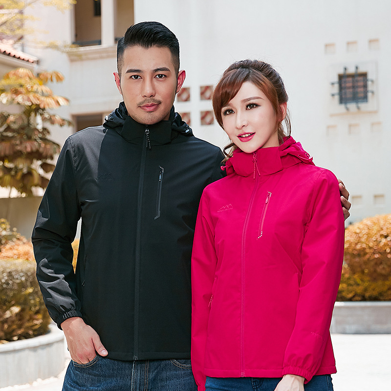 Wind snow wolfs new four side elastic single-layer stormsuit for lovers middle-aged and elderly windproof and water splashing stormsuit mountaineering suit