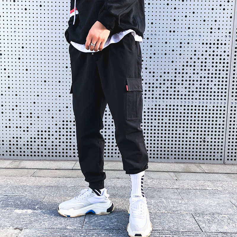 Aamon|2019春秋新款港风男士时尚潮流休闲裤运动百搭青少年工装裤