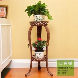 电视柜边的花架子卧室铁头客厅花盆架多层吊兰单个实铁室内落地式