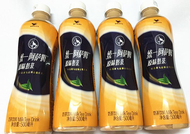 【奶茶5瓶】统一阿萨姆奶茶瓶装500ml 香浓原味 饮料