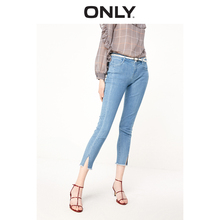 ONLY Autumn 2019 New Low-waist, Tight-fitting, Open-fur-brimmed Pants, 9-minute Jeans for Women 119149558