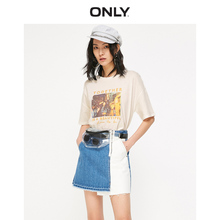 [Pre-sale] ONLY 2019 Summer New ins Printed Cotton Loose Short-sleeved T-shirt Woman 119101632