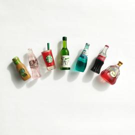 韩国创意冰箱贴纸磁贴铁一套3d立体个性仿真酒瓶吸铁石装饰留言贴