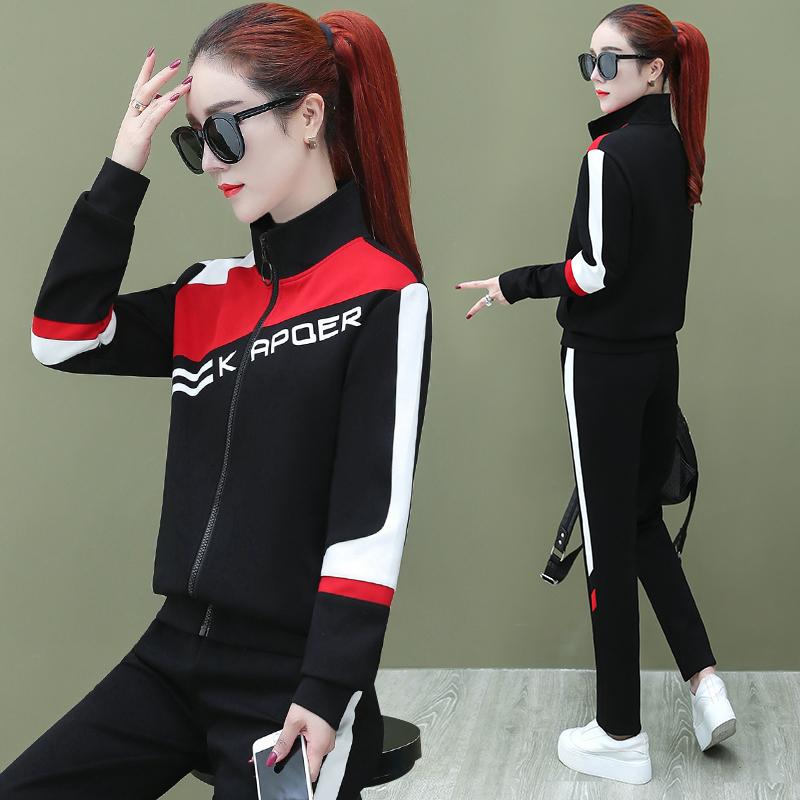 运动风套装ins潮2020初春季新款时尚韩版女装宽松洋气休闲两件套