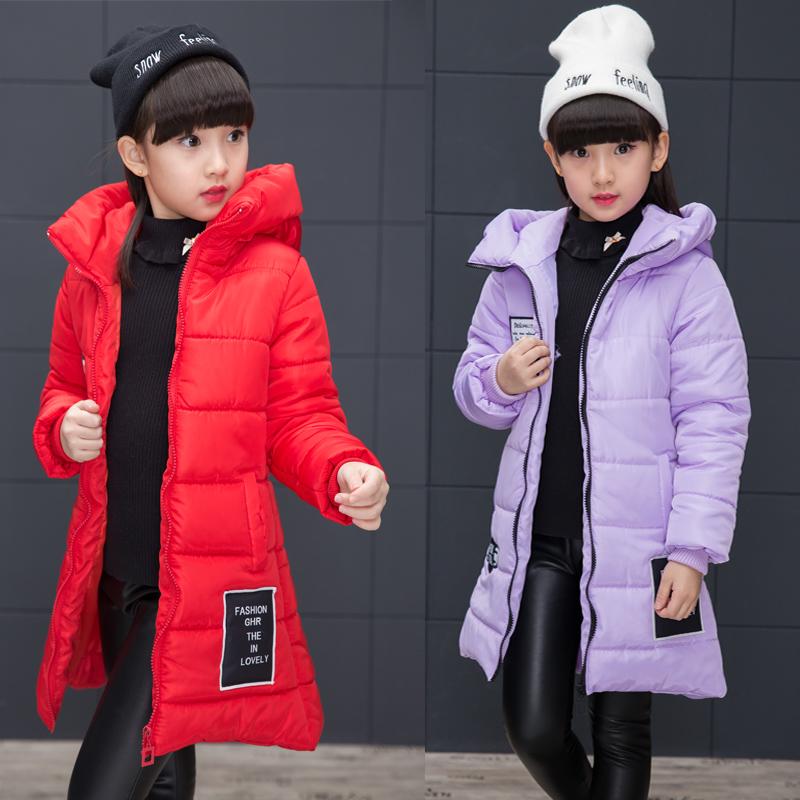 6女童羽绒棉服外套7冬装新款12岁小学生8女孩中长款棉袄上衣韩版9