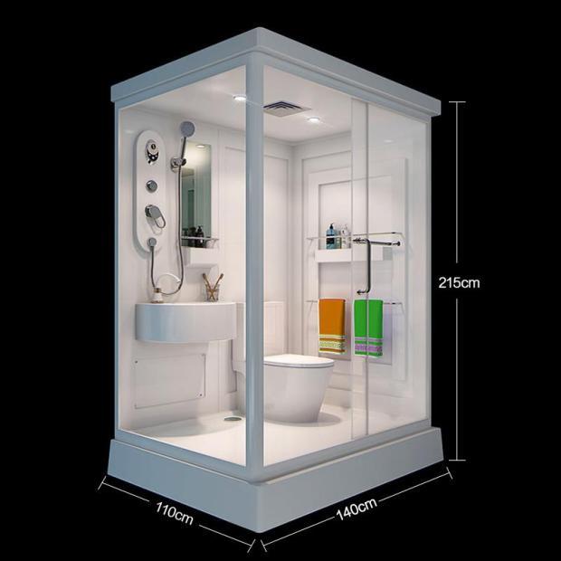 淋浴房整体 浴室卫生间一体式移动家用长方形日式卫生间 集成卫浴