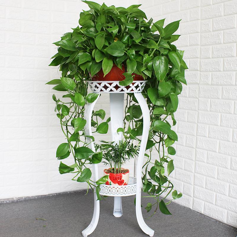 欧式花架铁艺多层室内落地式绿萝花架子客厅置物阳台简约家用花盆
