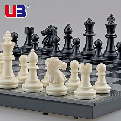 Магнитный шахматы установите сложить шахматная доска новичок для взрослых ребенок большой размер белый шахматы CHESS кусок