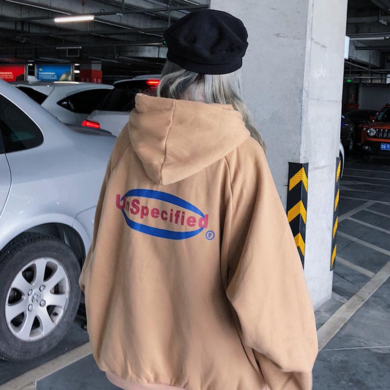 连帽卫衣女2018秋冬季新款韩版ulzzang长袖宽松加绒ins超火外套潮
