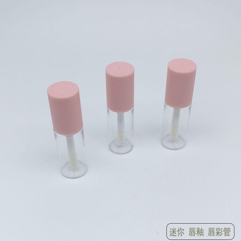 迷你唇釉小样瓶空管口红唇彩分装瓶试用装唇油唇蜜瓶3ml粉色包邮图片