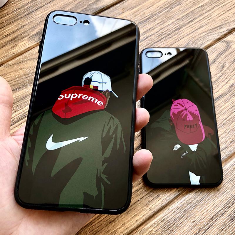 苹果7plus手机壳iphone8Plus潮牌8X创意个性i6s玻璃七女款男六网红款抖音八高档时尚全包防摔软壳韩国超薄