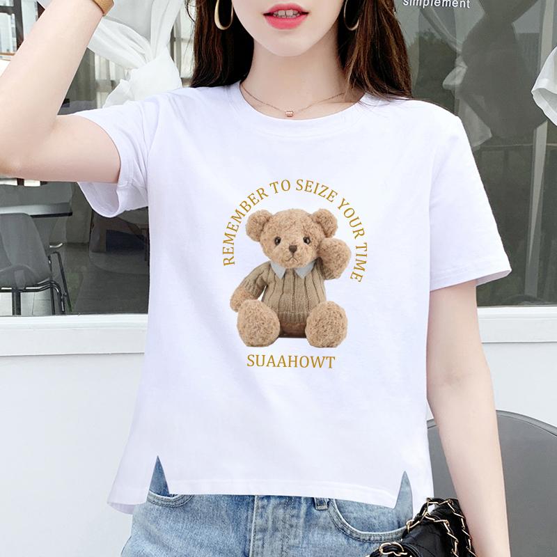白色女夏宽松短袖ins潮网红棉t恤