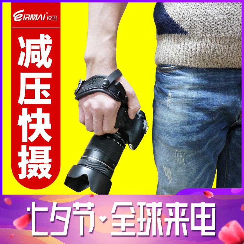 锐玛相机手腕带for佳能单反5D2 5D3 5D4 6D2 7D2尼康D7500 D750 D850 D810宾得索尼A7R2 A7M2 A7M3松下富士