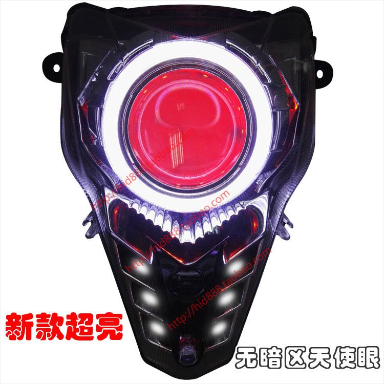 春風ST狒狒150NK400 650摩托車氙氣燈 雙光透鏡總成改裝大燈照明
