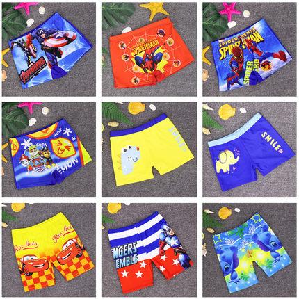 新款男童泳裤可爱卡通温泉平角儿童游泳裤小孩宝宝游泳馆泳装包邮