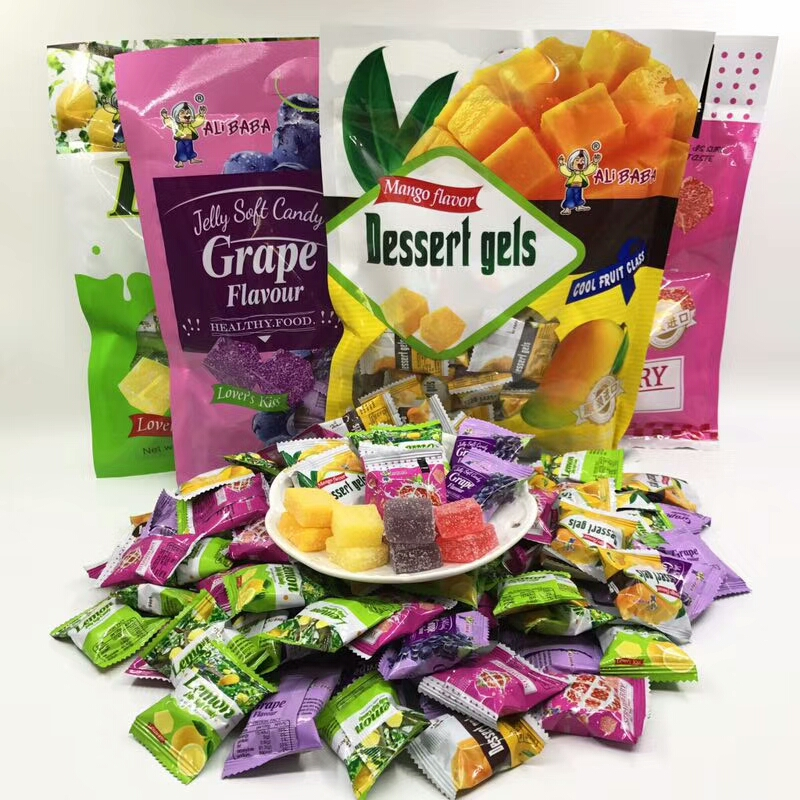 Imported fruit juice candy, mango and strawberry 328g / pack, childrens snacks, fruit flavored candy for Chinese New Year