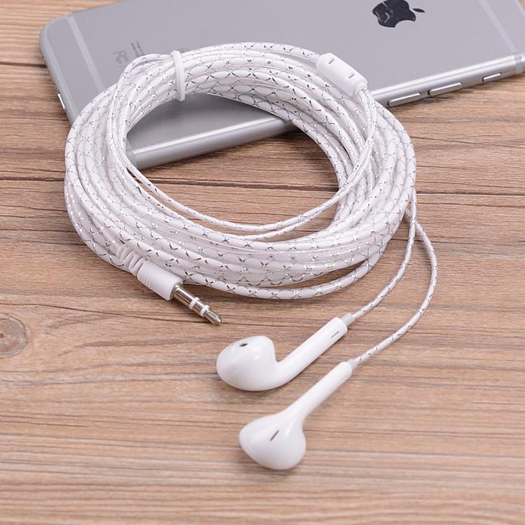 机耳机 线包邮重低音耳米4米水晶手机通用耳塞式电脑电视加长线2